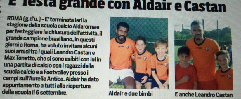 Aldair ospita Castan e Tonetto alla sua scuola calcio